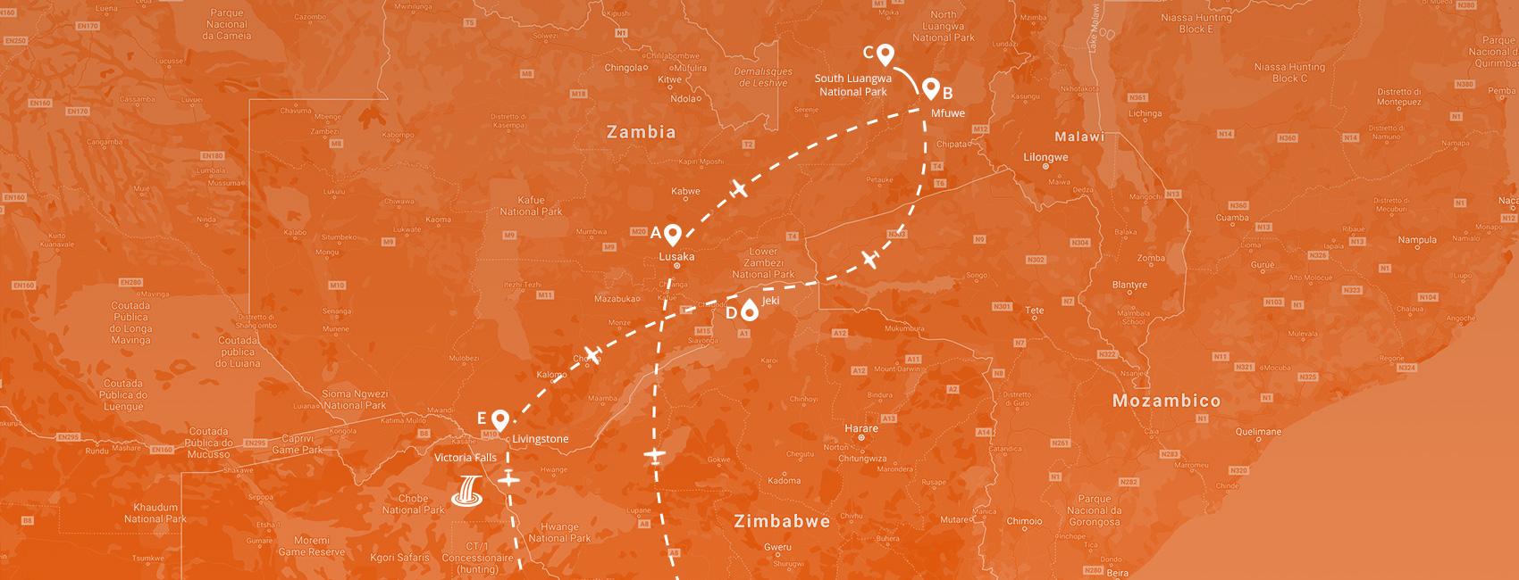 Maps - Zambia - Esplosione di natura 2021