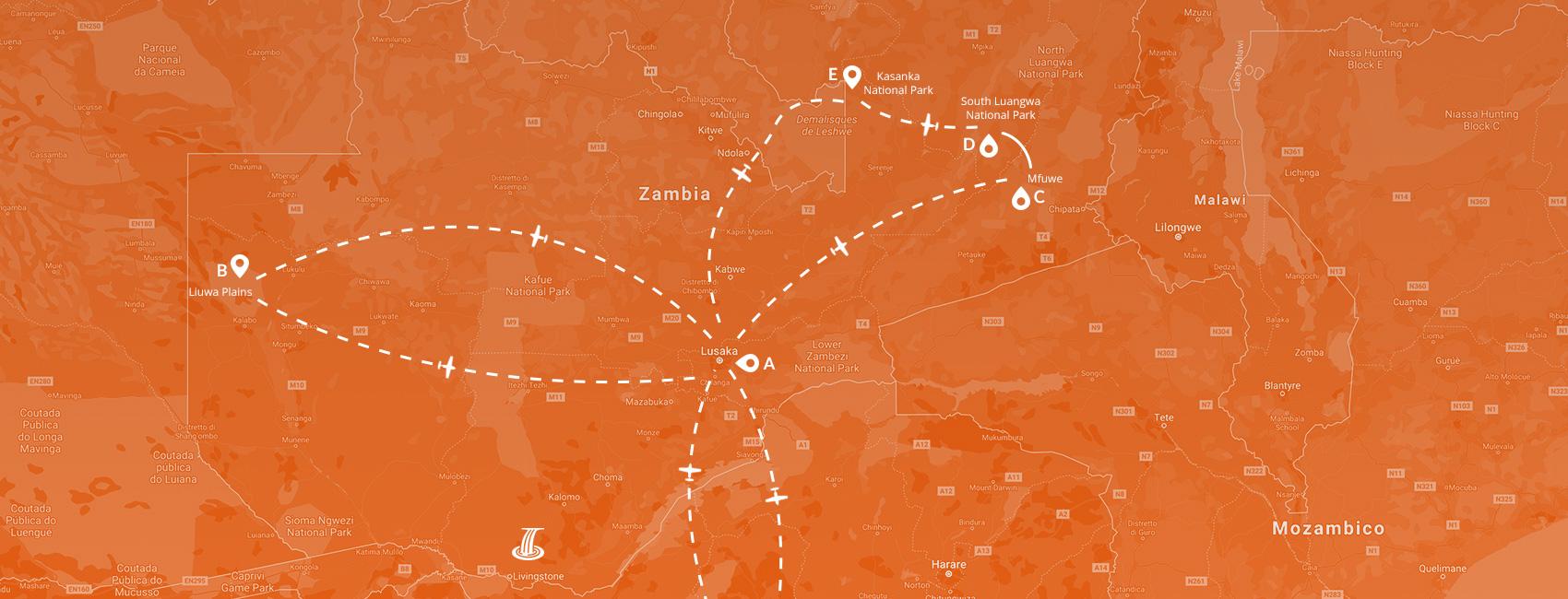 Maps - Zambia migrazioni 2021