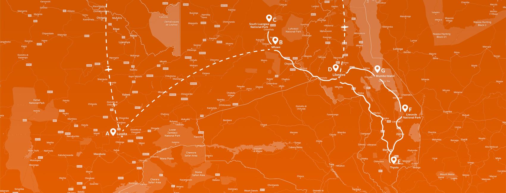 Maps - Zambia - Esplosione di natura 2020