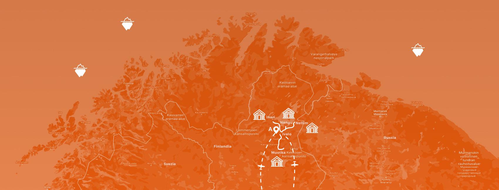 maps finlandia - avventura lappone