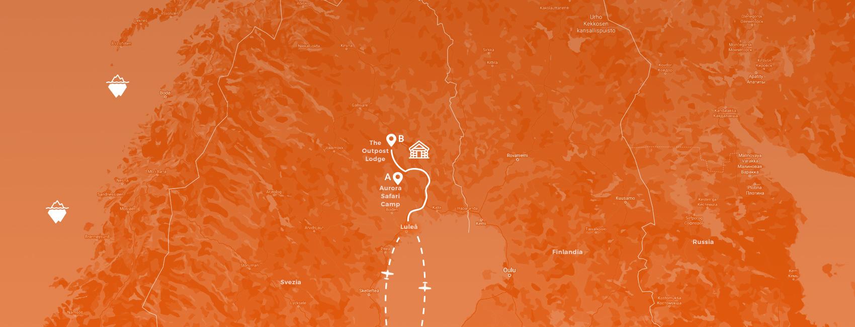 maps svezia - vero safari artico