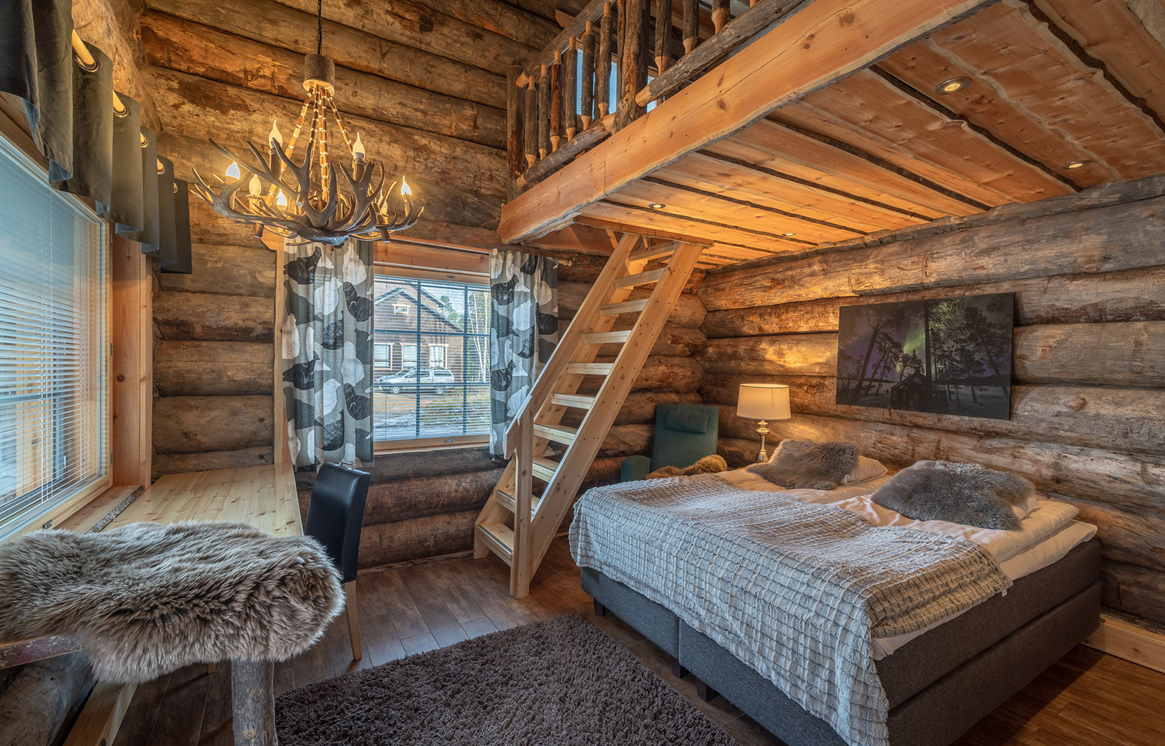 Wilderness Hotel Nellim log cabin suite