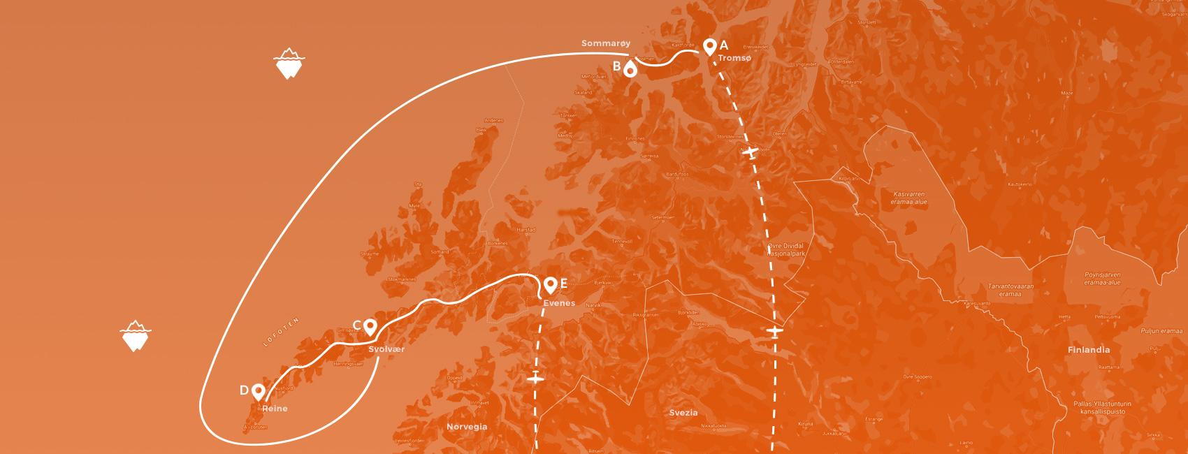 maps norvegia - isole da fiaba sotto i cieli del nord