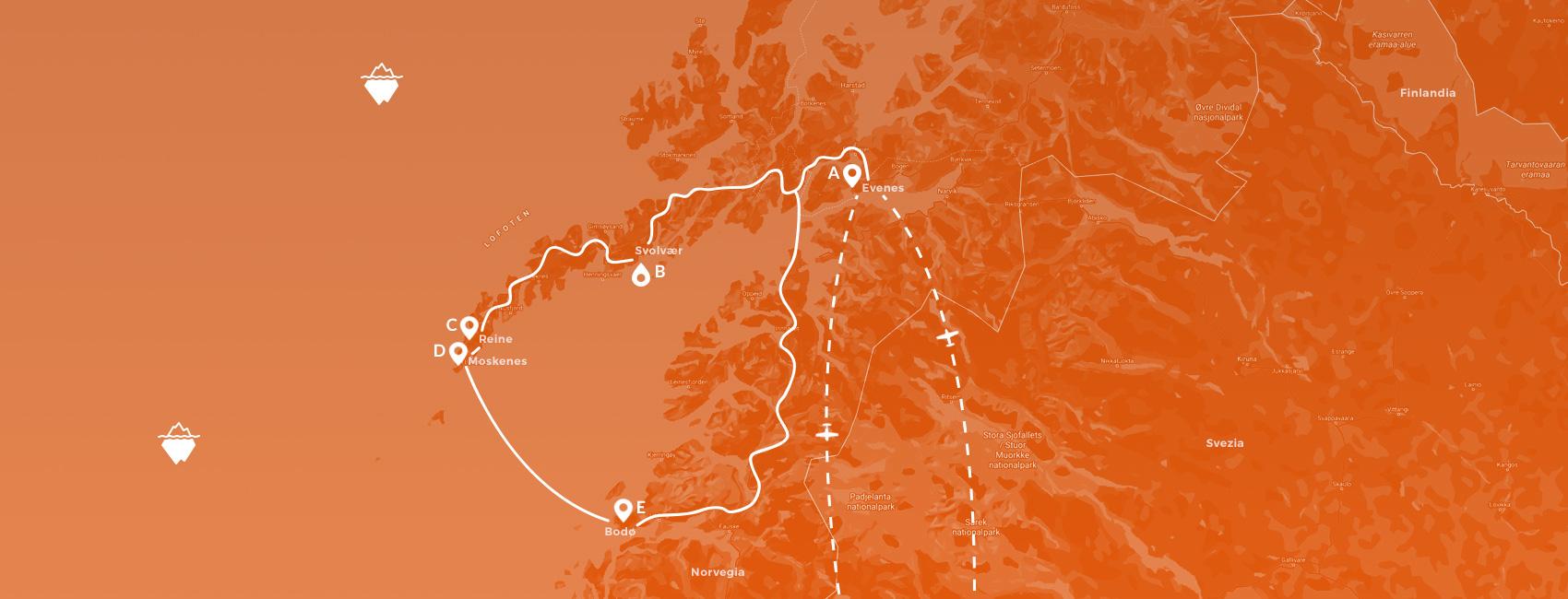 maps norvegia - Lofoten