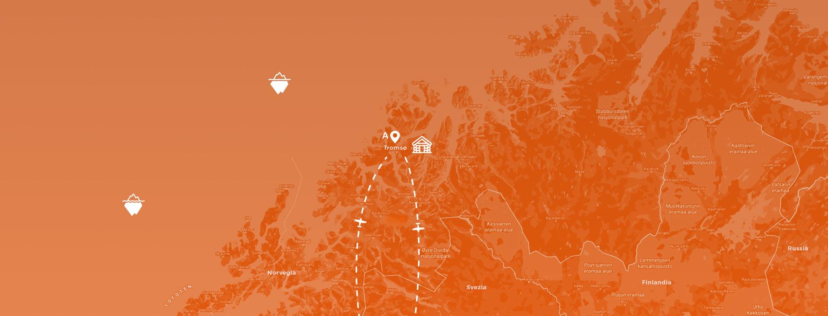 maps norvegia - weekend a Tromso