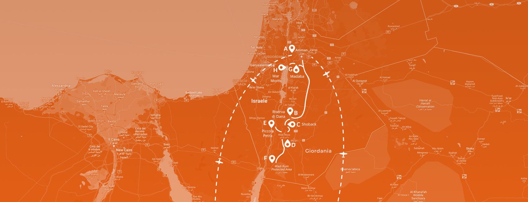 Maps - Giordania capodanno 2022
